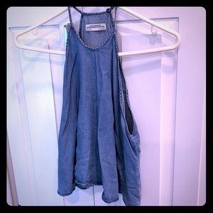 Zara sleeveless denim top, great condition